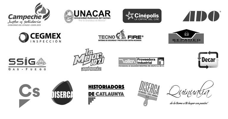 Algunos de nuestros clientes de España y México. Gobierno de Campeche, Universidad Unacar, Cinépolis, Ciudadanos, Historiadors de Catalunya etc.